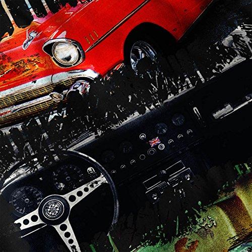 amerikanisch Klassisch Auto Farbe Spritzen Damen Schwarz S-2XL Muskelshirt | Wellcoda Schwarz