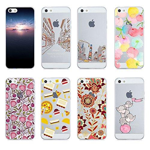 Qissy®TPU Case für iPhone 5 5S SE -Silikon-Hülle Soft Shell-Fall-Schutz Anti Shock Silikon Anti-Staub-beständig Tierischer Elefant (iPhone 5 5S SE, 5) 8
