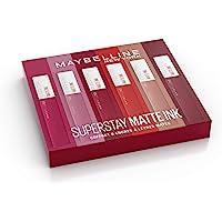 Maybelline New York - Coffret Exclusif de 6 Rouges à Lèvres Liquides Longue Tenue - Superstay Matte Ink - Teintes: Lover…
