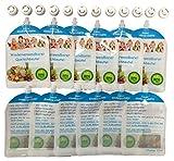 12er Pack Wiederverwendbare Quetschbeutel zum Selbst Befüllen – BPA & PVC frei – Gefrierfach & Geschirrspülfest – Baby & Kleinkinder mit selbst gekochten gesunden Essen & Gemüse versorgen – 200ml Füllmenge