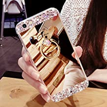 Galaxy J7 2017 Coque Silicone,Galaxy J7 Housse de Protection,Galaxy J7 2017 Case Original,Felfy Souple Luxe Ultra Slim Cristal Clair Bling Brillant Miroir Ours Ring Stand Holder TPU Silicone Coquille Luxury Coque pour Fille Soft Gel en Caoutchouc Bumper Housse Pailletee Strass Back Shockproof Anti Scratch Cover pour Samsung Galaxy J7 2017 + 1x Silver Stylus + 1x Bling Dust Plug [Couleur Aléatoire]