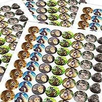 Chunky Hamster Monkeys and Apes, Reward Sticker Labels, Children, Parents, Teachers