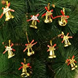 AMFIN® Christmas Tree Decorations Hangings Assorted Plastic Bells, Christmas Tree Decoration Bells, Hanging Ornament Party Xmas Decoration, Decorative Bells For Christmas Decor