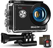 Dragon Touch WiFi Action Cam 20MP Subacquea Ultra HD Action Camera 4K, Schermo da 2 Pollici 170° Grandangolare, 1050mAh Batte