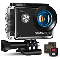 Dragon Touch Action Cam 4K, Action Kamera 20MP EIS Anti-Shake-Unterstützung Externes…