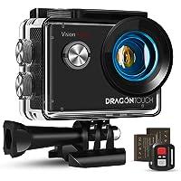 Dragon Touch Caméra Sport 4K Ultra HD Wi-FI 20 MP avec Télécommande,Appareil Photo Stabilisateur EIS Étanche 30M 170…