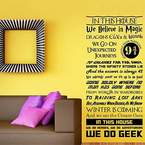 Wandaufkleber Kinderzimmer wandaufkleber 3d Harry Potter Wandaufkleber Zitat Magische Flash-Brille Glück kann Hauptdekoration für Wohnzimmer Schlafzimmer gefunden werden