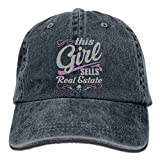 Aoliaoyudonggha This Girl Sells Real Estate Unisex Adjustable Baseball Caps Denim Hats Cowboy Sport Outdoor