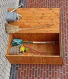 Promadino Geräteschrank SPEYER 71x54,5x148cm Holzschrank honigbraun 358/01