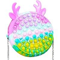 Fidget Schultertasche, Pop it Push Bubble Fidget Sensory Spielzeug, Stressabbau Silikon Umhängetasche Handytasche…