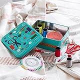 Costurero con accesorios viaje pequeño profesional compartimento colores