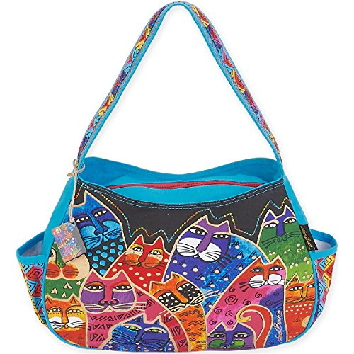 laurel-burch-whiskered-laurel-burch-bolso-bolsos-acrilico-multicolor
