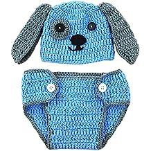 Aediea Lindo bebé recién nacido bebé niños niñas tejido a mano perro patrón ropa ...