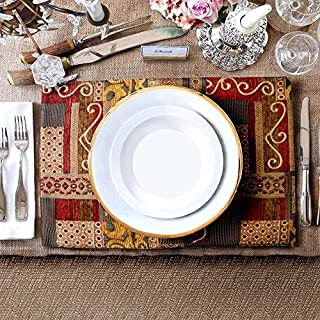 Artbisons Place Mats Sets of 6 Handmade 40x30cm Illusion Golden Table Mats
