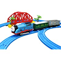 FunBlast Train Set with Tracks for Kids, (Set of 26 Pcs) Comes with Bridge and Tunnel (Multicolor)