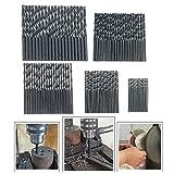 Metall Bohrer von Baban Steinbohrer HSS Bohrer Set 100pcs Titanium Metallbohrer Spiralbohrer Handspiralbohrer Sortiment 1-5mm