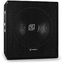 "Skytec Sonido profesional Altavoz subwoofer autoamplificado DJ Subwoofer 38cm (15"") 150 W RMS 600W máx. Bass reflex Apilable Asas de transporte"