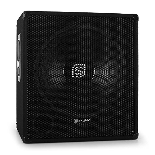 Skytec Sonido Profesional Altavoz subwoofer autoamplificado DJ Subwoofer 38cm (15