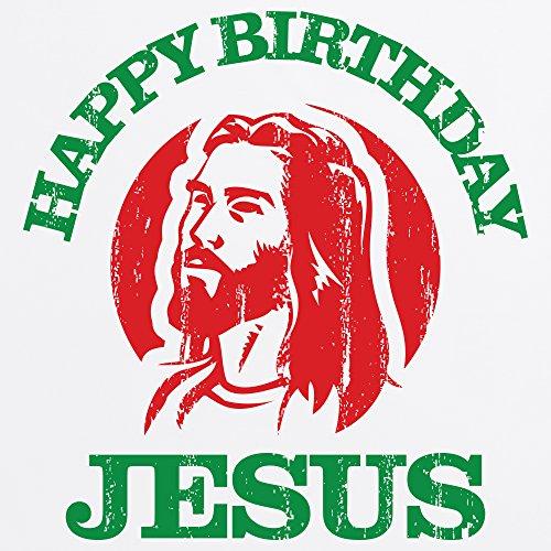 Happy Birthday Jesus T-shirt, Uomo Bianco