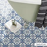 zyy Fliesen Aufkleber Decals (Boden 60 x 120 cm Marokkanische Muster Badezimmer Makeover-Wand-Dekor)