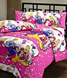 #2: Style Seven Trendy Princess Kids Print Single Bed Size Reversible AC Dohar/Blanket/Quilt