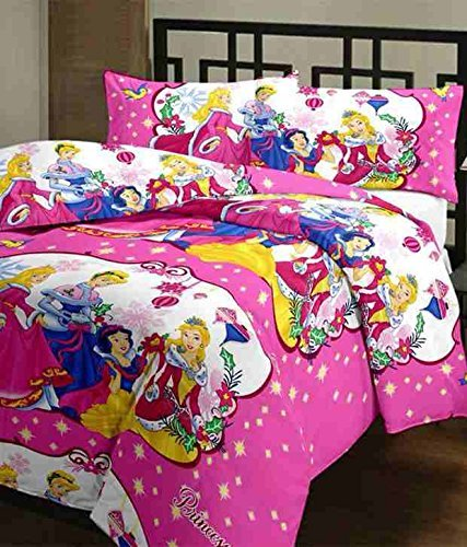 Style Seven Trendy Princess Kids Print Single Bed Size Reversible AC Dohar/Blanket/Quilt