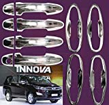 #8: RedClub Galio/ Prius Handle/ Catch Covers & Finger Guards Combo for Toyota Innova Crysta (Chrome) [Made in India] with Complementary 01 Pair of RedClub Blind Spot Mirrors + RedClub Pen Free