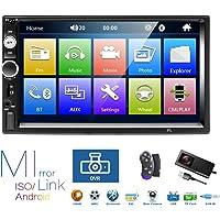 Autoradio 2 Din, Lecteur MP5 à écran Tactile HD 7 '' avec Lien Miroir Bluetooth, Prise en Charge DVR/USB/Carte Radio FM…