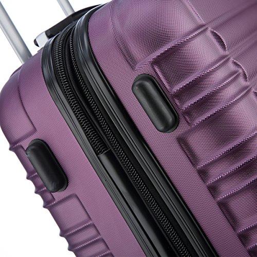 Zwillingsrollen 2088 Reisekoffer Koffer Trolleys Hartschale in XL-L-M in 14 Farben Violett