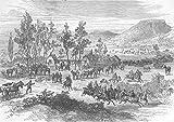 Südafrika: diamond-field, Crow 's Farm: Pickets, antiker Druck, 1878