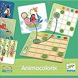 pelzitoys Lernspiel Farbenspiel ANIMO Colorix Erste Spiele Kleinkinder ab 3 Jahre Tiere und Farben zuordnen Djeco