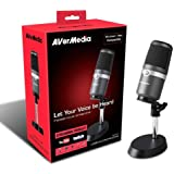 AVerMedia AM310 - Micrófono, Grabación de alta calidad, Patrón cardioide, Plug and Play (USB2.0), Sin latencia, monitoriza a