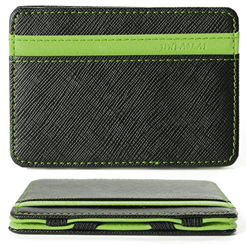 WER Herren Magnetic Money Clip Card Case, Magie Credit ID Card Geld Wallet (Grün) (Card Clip Id-money Case)