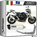Arrow Auspuff Komplett Hom Racetech Aluminium White Carby Suzuki GSR 75020121271776AKB + 71444Ich + 71443Ich