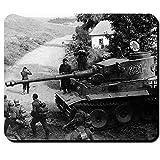 Tiger Panzer mit Infanterie Wh Foto Bild Front Deutschland Panzerkampfwagen VI - Mauspad Mousepad Computer Laptop PC #9547