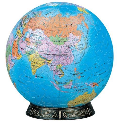 3D rompecabezas esfera 240 Unidad mundo (Ingl?s) 2024-102 (di?metro aproximadamente 15.2cm) (Jap?n importaci?n / El paquete y el manual est?n escritos en japon?s)