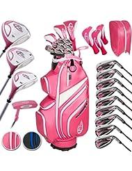 TecTake Golf Set Golfschläger Komplettset Graphit Rechtshand mit 13 Schläger und Tasche - Damen und Herren -