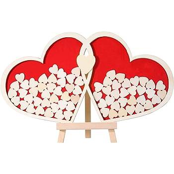 Homemaxs Hochzeit Gastebuch Alternative Schild Aus Holz Rahmen Mit