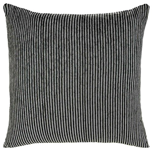 Holzkohle Grau Streifen (Kissenbezüge, Streifen Kissen, Plüsch, 45cm x 45cm, Holzkohle)