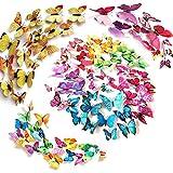Tomkity 96 unidades Adhesivos 3D Decorativos para Pared, Diseño de Mariposas