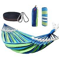 TRIXES Hamac Portable Bleu et Vert de 2 M/ètres pour Jardin Camping Voyage