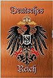 Deutsches Reich wappen mit adler, bronze, schild aus blech, tin sign,
