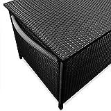 Deuba Auflagenbox | Poly Rattan | Rostfreies Aluminiumgestell | Rollbar| Hubautomatik | Gartentruhe Gartenbox Kissenbox Kissentruhe - 2
