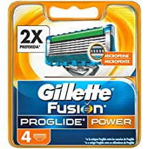 Gillette Fusion ProGlide Power Hojas de Afeitar para Hombre - 4 unidades