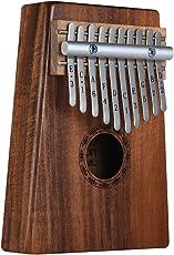 ammoon Kalimba Mbira Sanza 10 Tasti Thumb Piano Koa Hawaiano Legno Massello con Borsa di Trasporto Libro di Musica Martello Sintonizzatore Regalo Musicale (10 Tasti)