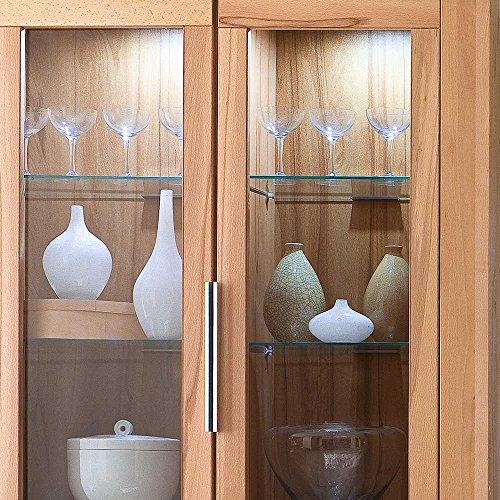 Wohnzimmer Wohnwand aus Kernbuche teilmassiv Beleuchtung (4-teilig) Ohne Beleuchtung Pharao24 - 3