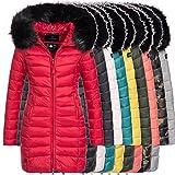 Marikoo ROSE-110 Damen Mantel Jacke Steppjacke Winterjacke lang gesteppt Übergang XS-XXL 12-Farben 1
