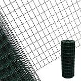 Estexo Gartenzaun 0,8x10 M Maschendraht Gitterzaun Maschung 7,5x5 cm Schweißgitter Zaun