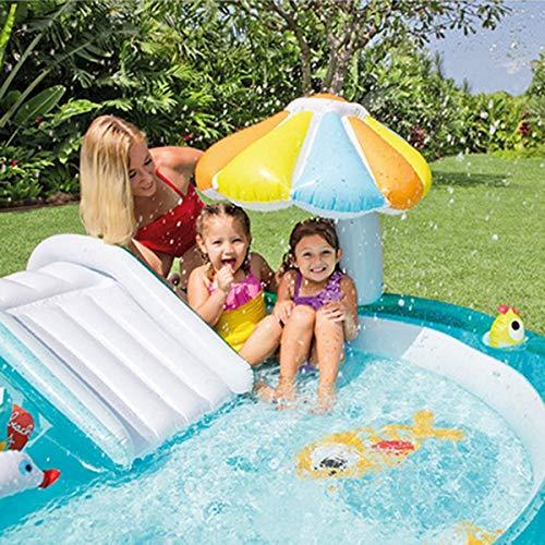 Piscina para bebés,Piscina inflable de chorros de agua con tobogán de cocodrilo, piscina infantil...