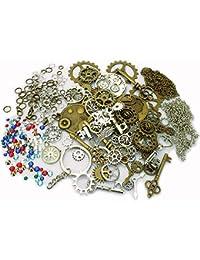 2bbb1711f9 Lollibeads (TM) orologio scheletro in metallo anticato Steampunk Gear Cog  Wheel set BronzeSilver-Charm-Kits…